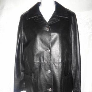 VESTIMENTA Black Italian Leather Car Coat 40 6
